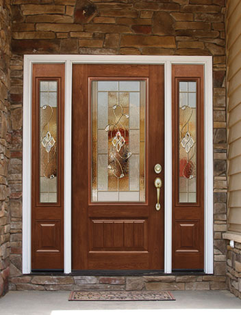 Advanced Windows And Siding Wood Entry Door