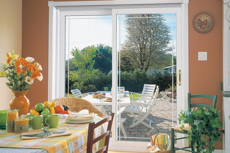 Advanced Windows & Siding Patio White Door
