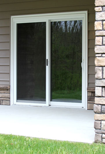 White Frame Patio Door