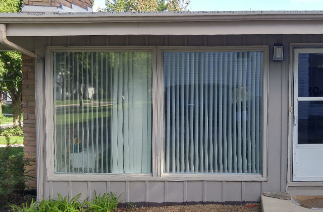 Advanced Windows & Siding Specialty Windows Before